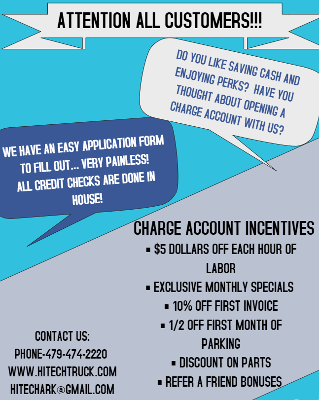 CHARGE ACCOUNT CUSTOMER FLYER