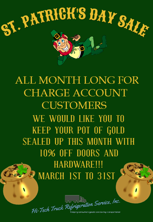 CHARGE ACCOUNT ONLINE FLYER FOR MARCH